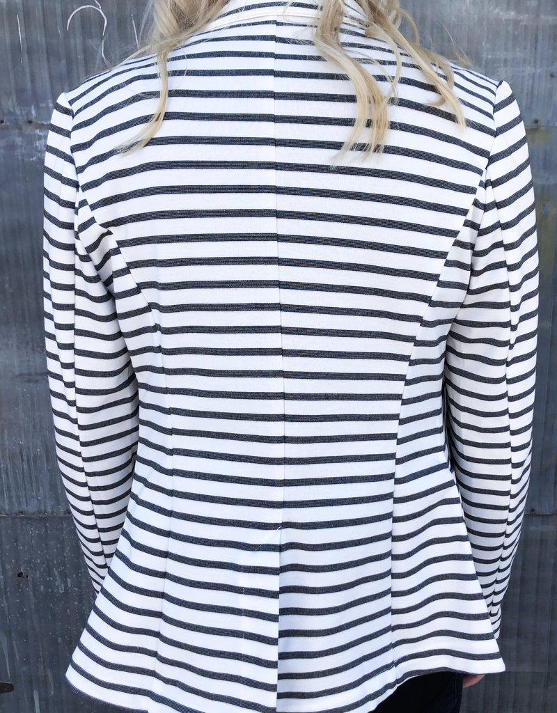 Stripe Button Blazer