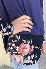 Floral Detail Cowl Neck