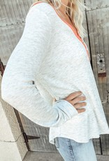 Long Sleeve Solid Thermal Knit Top