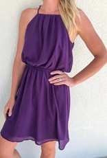 Pleated Halter Neck Dress