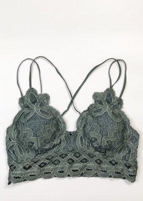 Lace Detail Bralette |T.Grey|