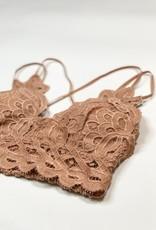 Lace Detail Bralette  Mocha 