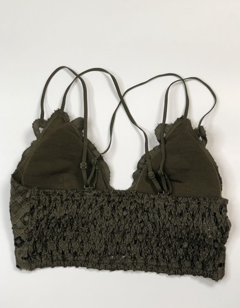 Lace Detail Bralette |Olive|