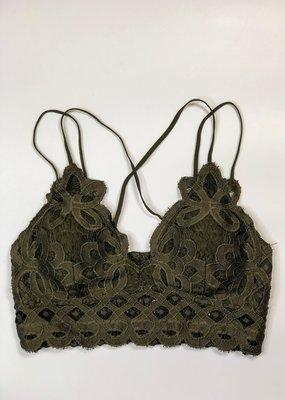 Lace Detail Bralette |Olive|