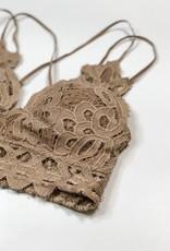 Lace Detail Bralette |Cocoa|