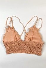 Lace Detail Bralette |Dusty Coral|