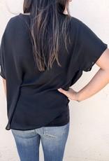 Drop Shoulder Top With Twist Detail