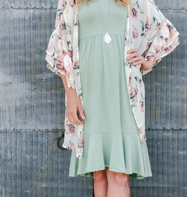 Cropped Bell Sleeve Dress