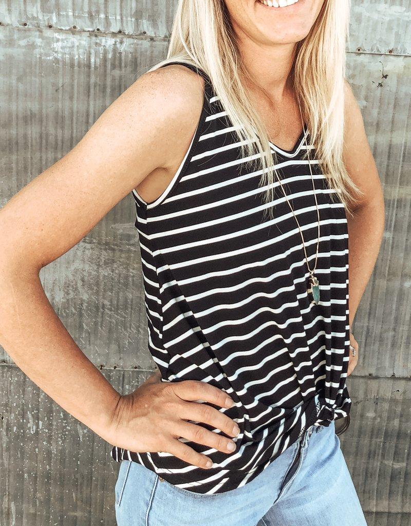 Stripe Twist Tank Top