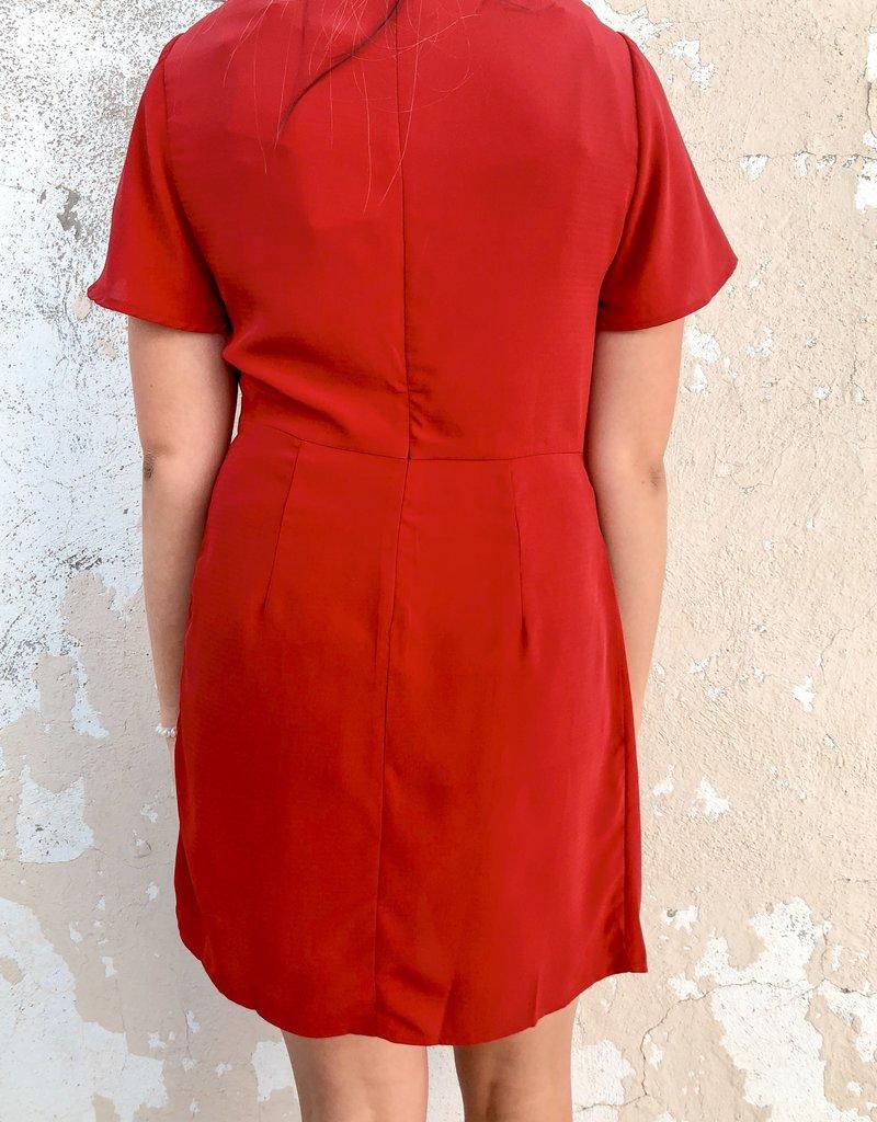 Front Knot Shift Dress