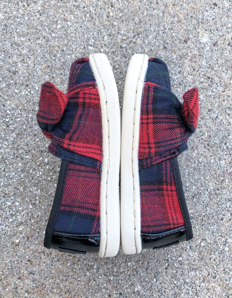 TOMS Red Tartan Plaid Tiny TOMS