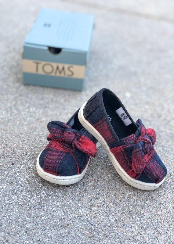 TOMS Red Tartan Plaid Tiny TOMS