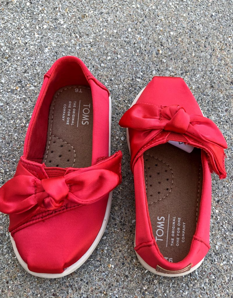 TOMS Classic Rose Cloud Satin/Bow