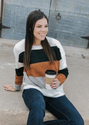 Super Soft Color Block Sweater
