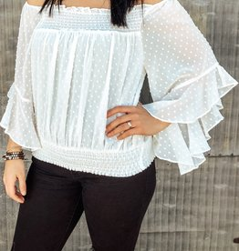Off The Shoulder Sinched Waist  Top