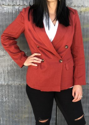 Button Front Solid Jacket