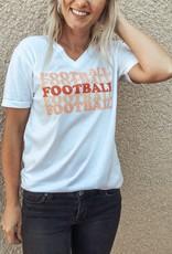 Football V-Neck Tee
