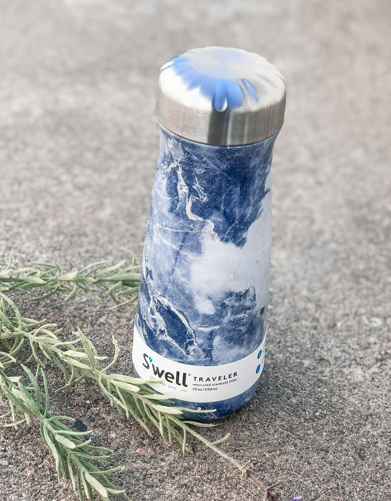 S'well 20 oz Traveler |Blue Granite|