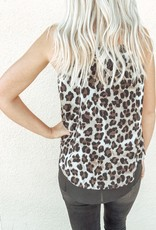 Cheetah Front Slit Top
