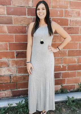 Solid Knit Maxi Dress
