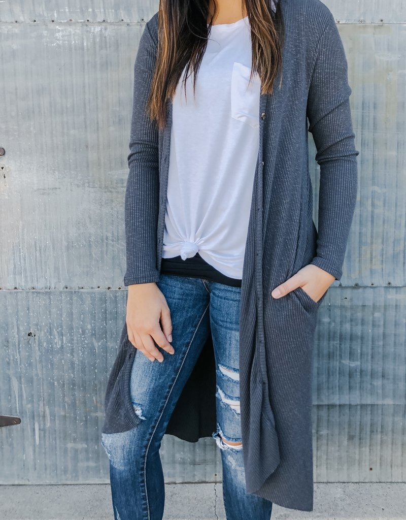 Knit Button Down Duster