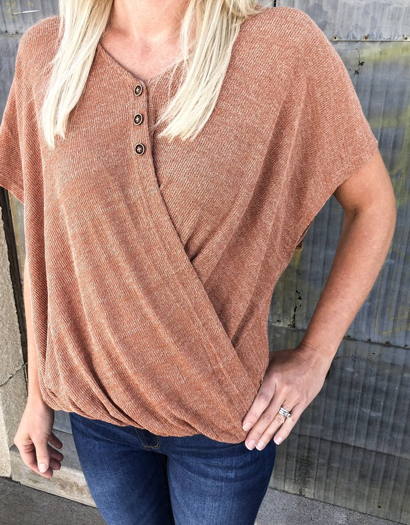Knit Button Detail Top
