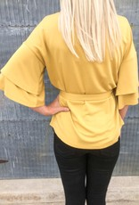 Wide Ruffle Sleeve Top