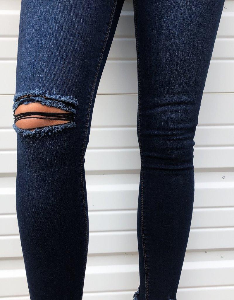 High Waist Ankle Skinny