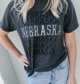 Retro Brand Nebraska Heather Tee