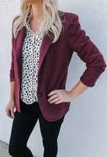 Cropped Cinched Sleeve Blazer