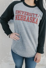 Retro Brand Nebraska Long Sleeve Raglan