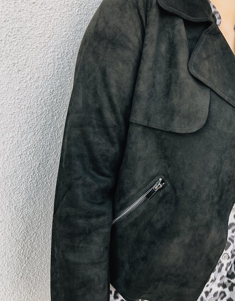 KUT From The Kloth Jacee Draped Moto Jacket