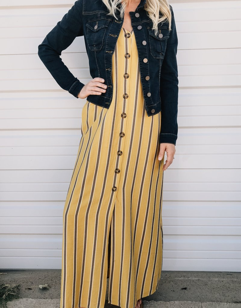 Striped Button Maxi Detail