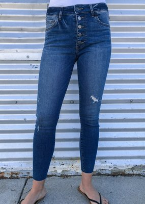 KUT From The Kloth Donna High Rise Ankle Skinny |Permit Wash|