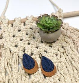 Jones & Lake Co Double Suede Earrings
