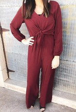 Long Sleeve Wide Leg Jumpsuit