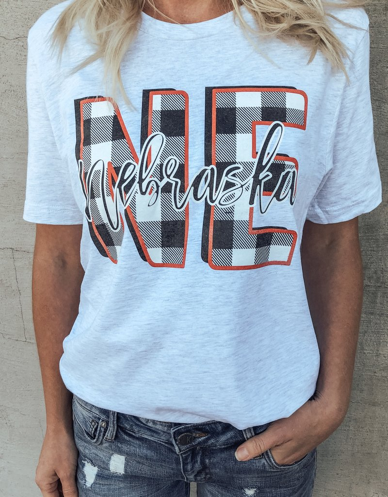 Nebraksa Plaid Short Sleeve Tee