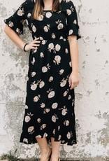 Ruffle Trim Maxi Dress