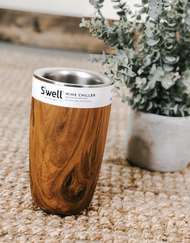 S'well Wine Chiller |Teakwood|