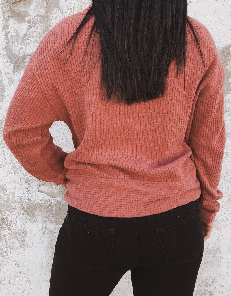 Z Supply The Cowl Neck Waffle Thermal Top