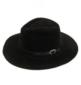 Flat Brim Fedora Hat