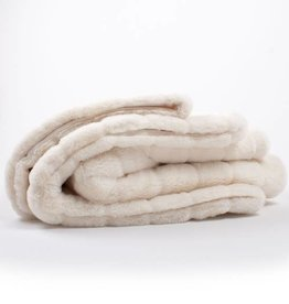 8 Oak Lane White Channel Fur Blanket