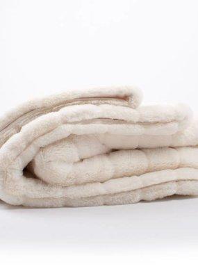 8 Oak Lane White Channel Fur Blanket