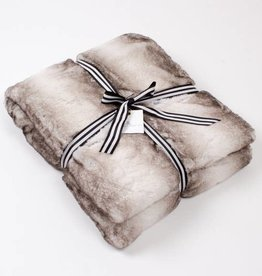 8 Oak Lane Faux Fur Throw Blanket |Grey|
