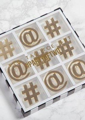 8 Oak Lane Tic Tac Toe  White & Gold 