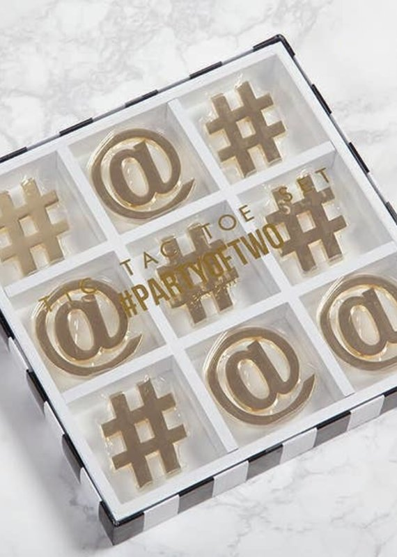 8 Oak Lane Tic Tac Toe |White & Gold|