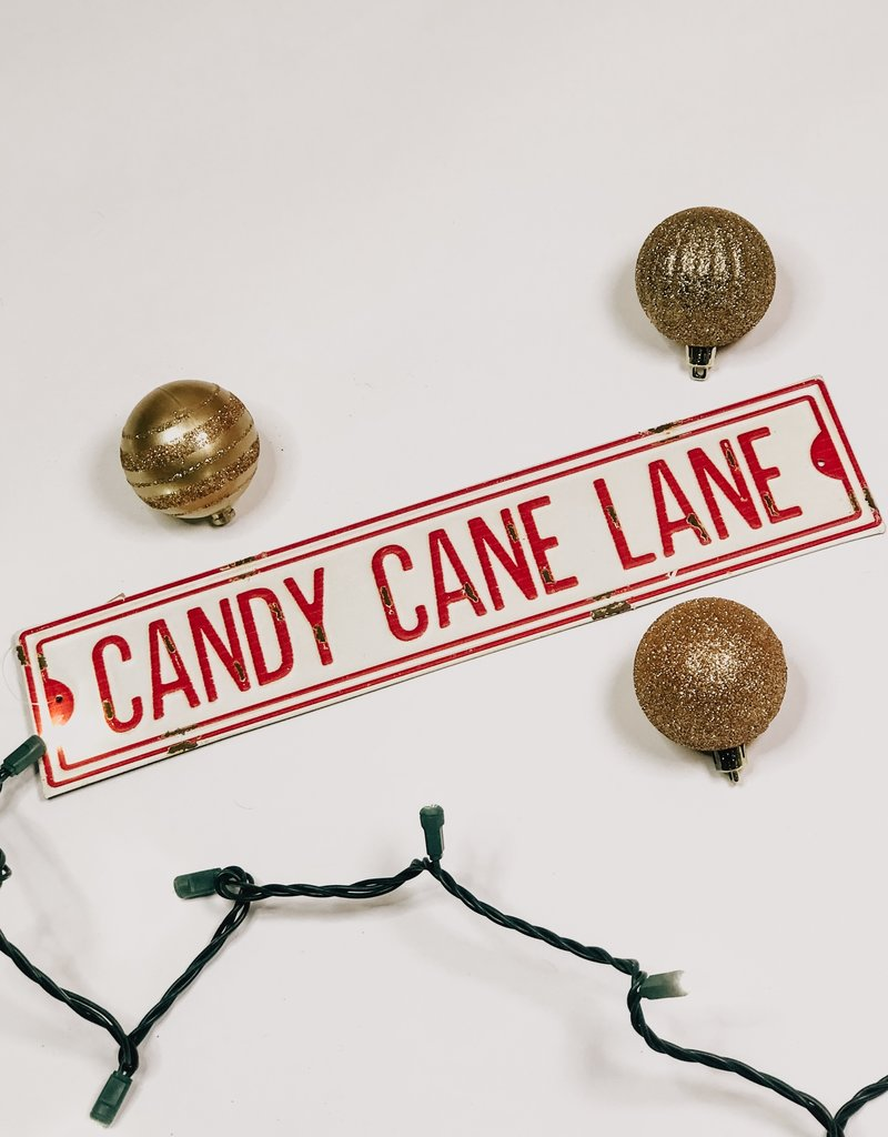 Candy Cane Street Sign