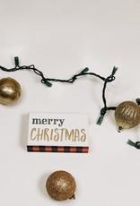 Merry Christmas Check Box Sign