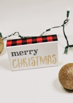 Merry Christmas Check Box Sign