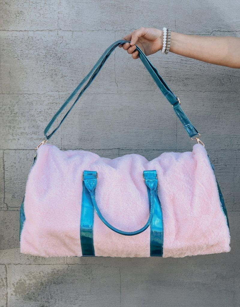 Disco Vibe Fur Travel Bag